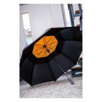 Kép 5/5 - MONSUN üveggyapot golf esernyő, fekete, narancssárga