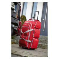 Kép 3/3 - 9P gurulós utazó táska, vörös, szürke