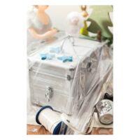 Kép 4/4 - OPAL alumínium kozmetikai táska, ezüst