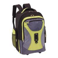 Kép 3/5 - COMFORTY gurulós hátizsák, szürke, zöld