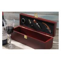Kép 3/3 - BORDEAUX boros készlet, burgundivörös, ezüst
