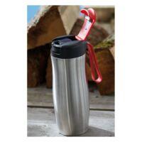 Kép 3/3 - TAKE IT duplafalú termosz bögre, ezüst, vörös