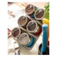 Kép 3/3 - FANTASTIC rozsdamentes acél fűszertartó tálca, ezüst, vörös, kék, zöld
