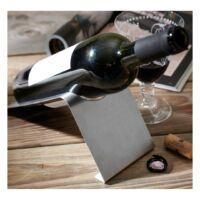Kép 4/4 - NOBLE boros palack tartó, ezüst
