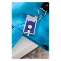 Kép 3/3 - SHOPPING LED-es kulcstartó, ezüst, kék
