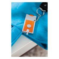 Kép 3/3 - SHOPPING LED-es kulcstartó, ezüst, narancssárga