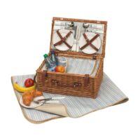 Kép 3/4 - MADISON PARK piknikkosár, barna, kék, bézs