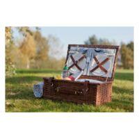 Kép 4/4 - MADISON PARK piknikkosár, barna, kék, bézs