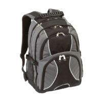 Kép 1/5 - HYPE laptop tárolós hátizsák, szürke, fekete