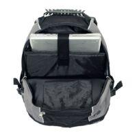 Kép 4/5 - HYPE laptop tárolós hátizsák, szürke, fekete