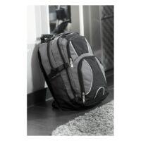 Kép 5/5 - HYPE laptop tárolós hátizsák, szürke, fekete