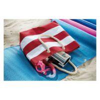 Kép 3/3 - SYLT strandtáska, vörös, fehér