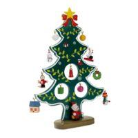 Kép 2/3 - WOODTREE Karácsonyfa alakú fadekoráció