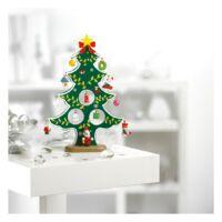 Kép 1/3 - WOODTREE Karácsonyfa alakú fadekoráció