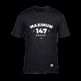 Férfi kereknyakú póló, fekete – MAXIMUM 147 BREAK