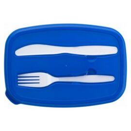 Cipzáros hűtőtáska uzsonnásdobozzal, kék