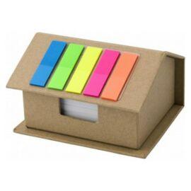Házikó alakú karton jegyzettömbkészlet, natúr