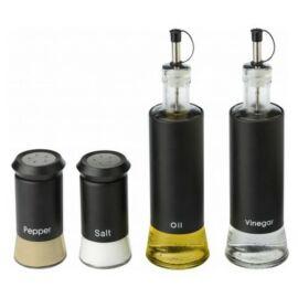 Olívaolaj-, ecet-, só- és borstartó