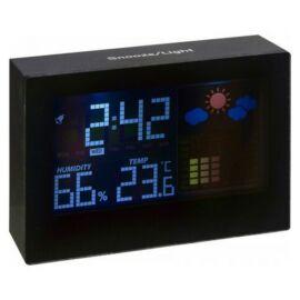 Digitális időjárásjelző, fekete