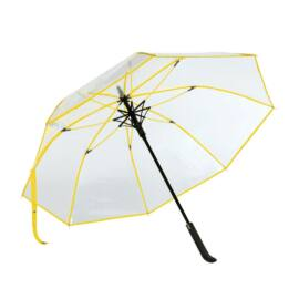 VIP automata esernyő, átlátszó, sárga