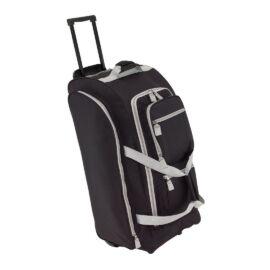 9P gurulós utazó táska, fekete, szürke
