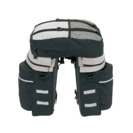 BIKE háromrészes biciklis táska szett, fekete, szürke