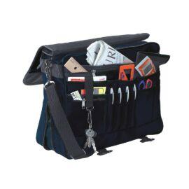 AVANTI irattartó táska bővíthető alsórésszel, fekete, kék