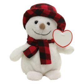 JOHANN plüss hóember, fehér, vörös