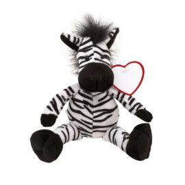 LORENZO plüss zebra, fekete, fehér