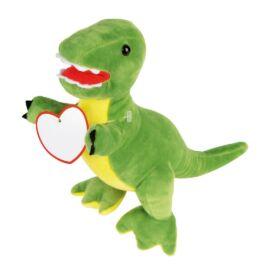 FRIGHTY REX plüss dinoszaurusz, sárga, piros, zöld