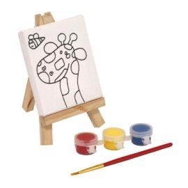 BRUSH & EASEL festő szett, színes