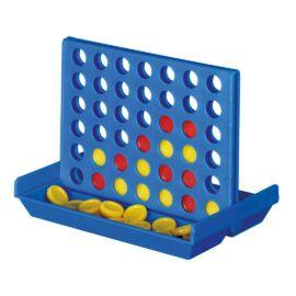 4 IN A LINE 4 az egy vonalban szórakoztató utazó játék, kék, vörös, sárga