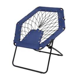CHILL OUT hordozható szék gumikötelekkel, fekete, kék