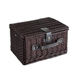 SUNSET PARK fonott piknik kosár, sötétbarna
