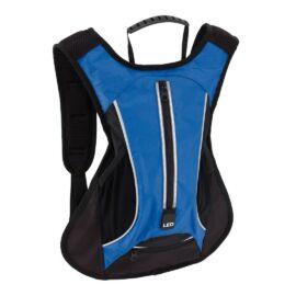 LED RUN sport hátizsák, kék, fekete