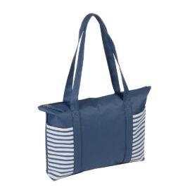 TWIN bevásárlótáska, kék, fehér