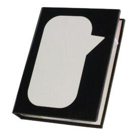 SPEECH BUBBLE jegyzetfüzet, fekete