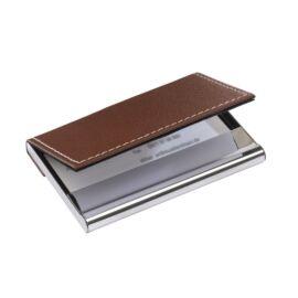 SUPERB névjegykártyatartó, ezüst, barna