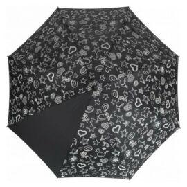 Színváltó automata esernyő, fekete