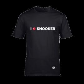 Férfi kereknyakú póló, fekete – I LOVE SNOOKER