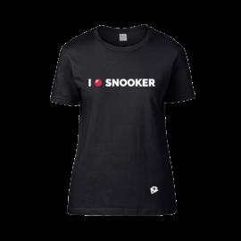 Női kereknyakú póló, fekete – I LOVE SNOOKER