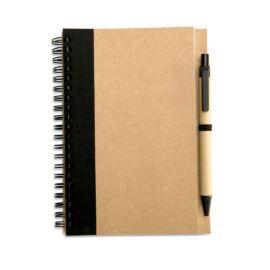 SONORA PLUS Újrahasznosított jegyzetfüzet, fekete
