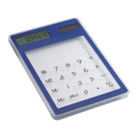 CLEARAL Átlátszó, napelemes számológép , kék