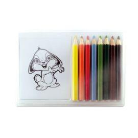 RECREATION Színező készlet fa ceruzával, többszínű
