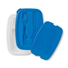 DILUNCH Ételdoboz evőeszközzel, kék