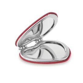 GLOW HEART Szív alakú PU tükör, piros