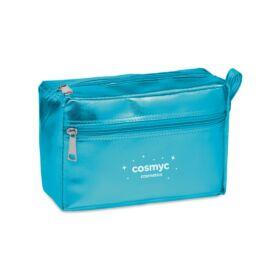 SILENE Fényes PVC kozmetikai táska, kék