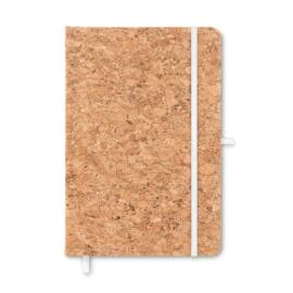 SUBER A5 notesz parafa borítóval, fehér