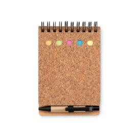 MULTICORK Parafa notesz jegyzetelővel, fekete