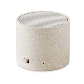 ROUND BASS+ Búzaszalma / ABS BT hangszóró, beige